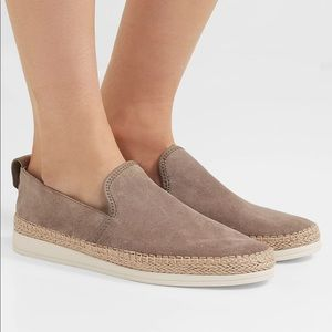 VINCE Silas suede espadrille slip on sneakers